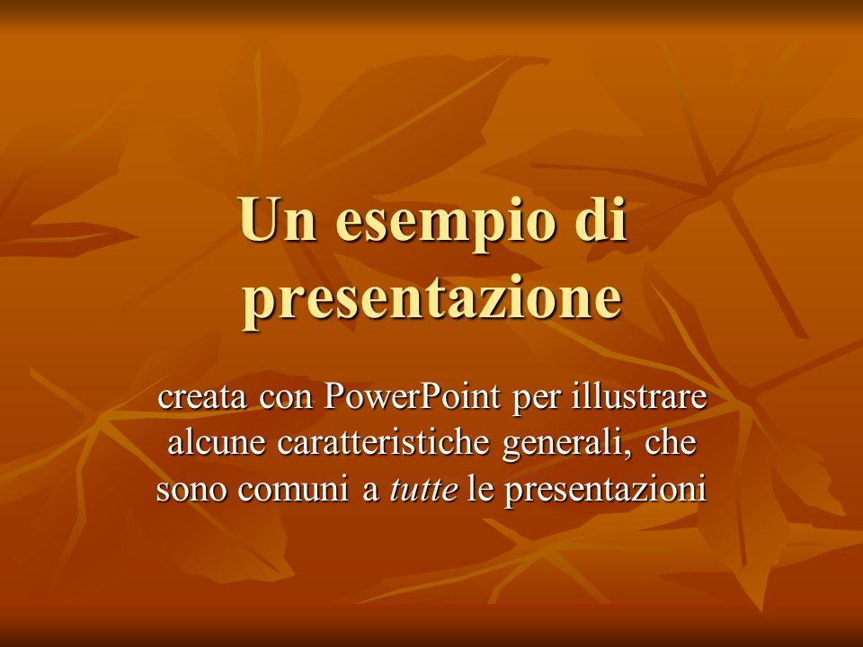 Un esempio di presentazione