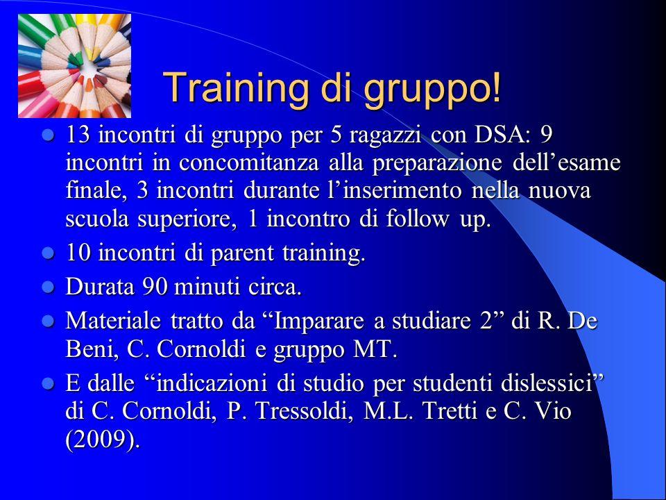 Training di gruppo!