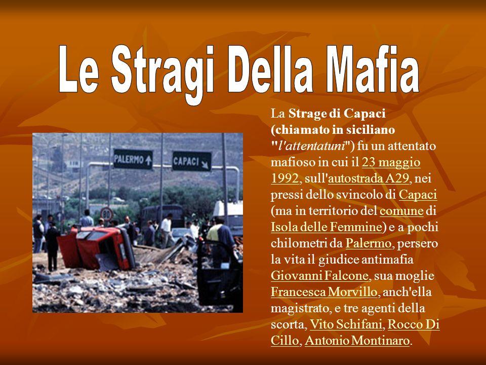 Le Stragi Della Mafia