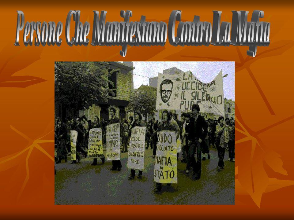 Persone Che Manifestano Contro La Mafia
