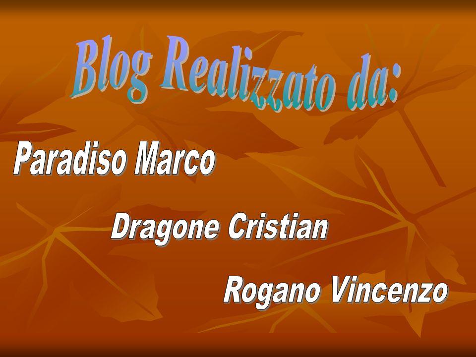 Blog Realizzato da: Paradiso Marco Dragone Cristian Rogano Vincenzo