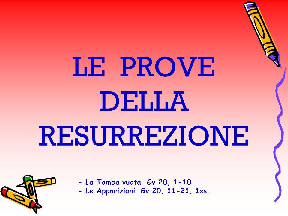 LE PROVE DELLA RESURREZIONE