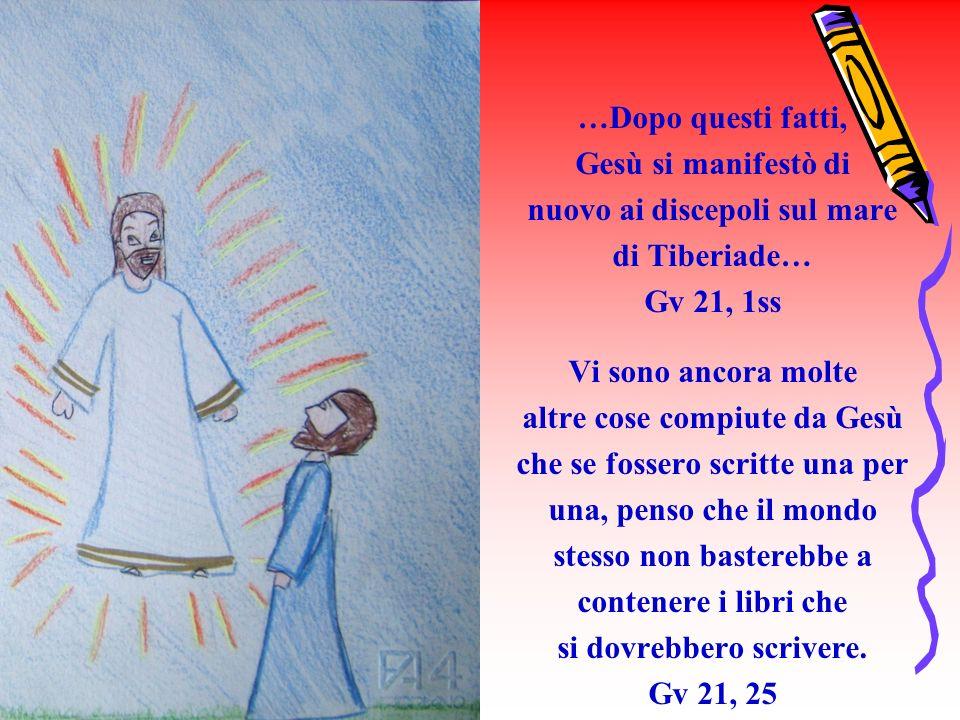 nuovo ai discepoli sul mare di Tiberiade… Gv 21, 1ss