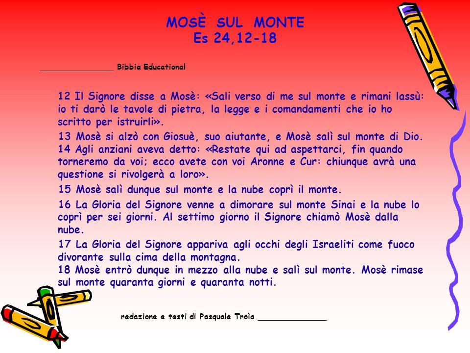 MOSÈ SUL MONTE Es 24,12-18 _______________ Bibbia Educational.