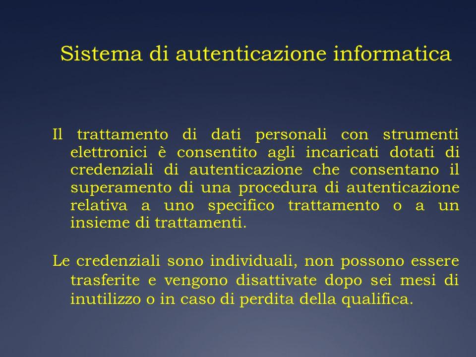 Sistema di autenticazione informatica