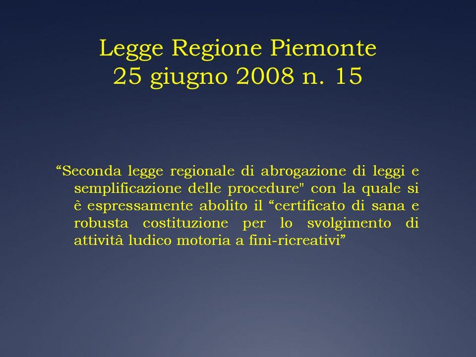 Legge Regione Piemonte 25 giugno 2008 n. 15