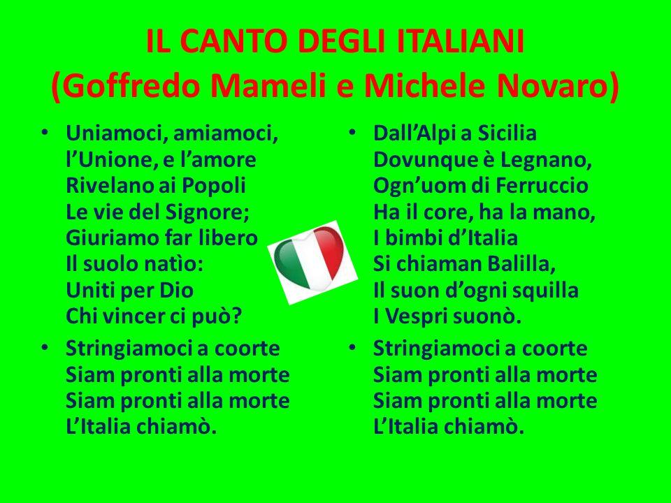 IL CANTO DEGLI ITALIANI (Goffredo Mameli e Michele Novaro)