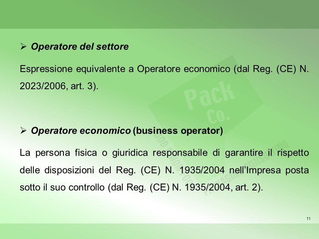 Operatore economico (business operator)