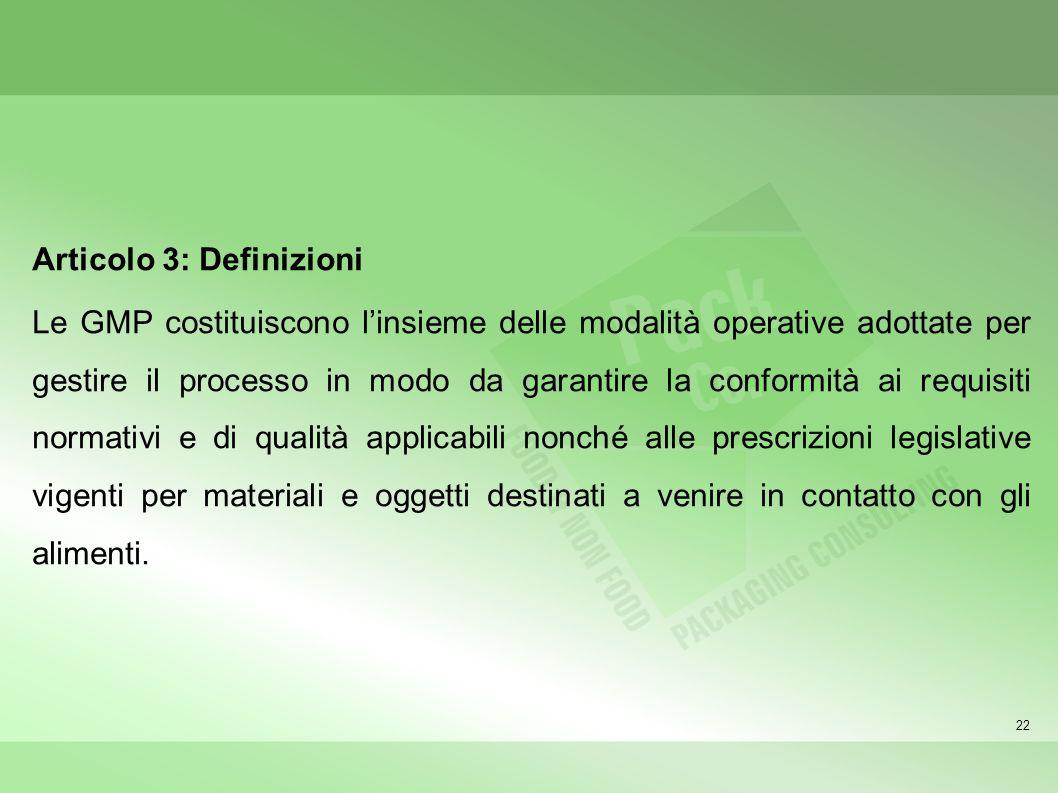 Articolo 3: Definizioni