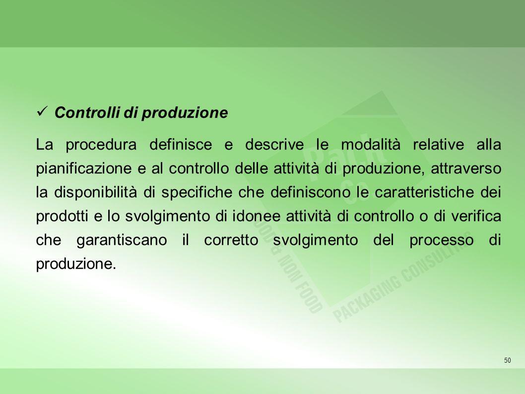 Controlli di produzione