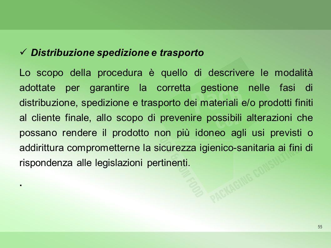 Distribuzione spedizione e trasporto