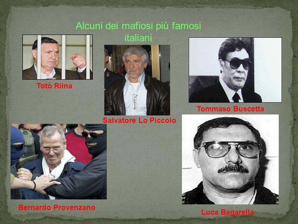Alcuni dei mafiosi più famosi italiani