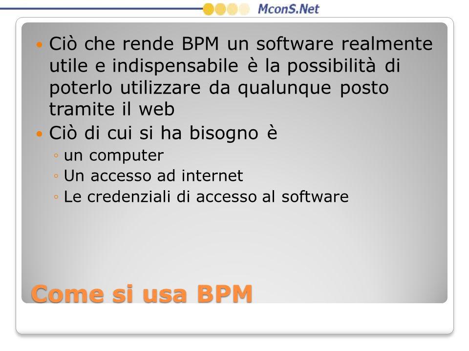 Ciò che rende BPM un software realmente utile e indispensabile è la possibilità di poterlo utilizzare da qualunque posto tramite il web