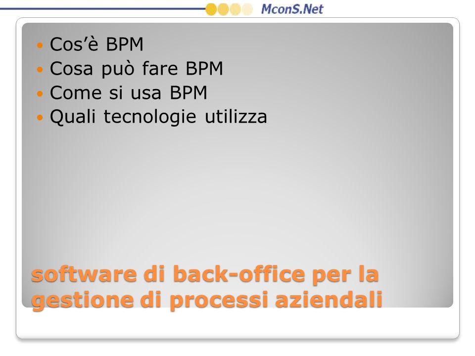 software di back-office per la gestione di processi aziendali