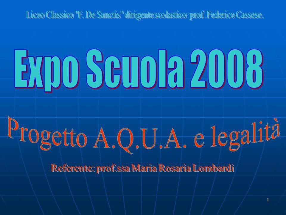 Progetto A.Q.U.A. e legalità