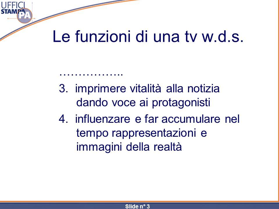 Le funzioni di una tv w.d.s.