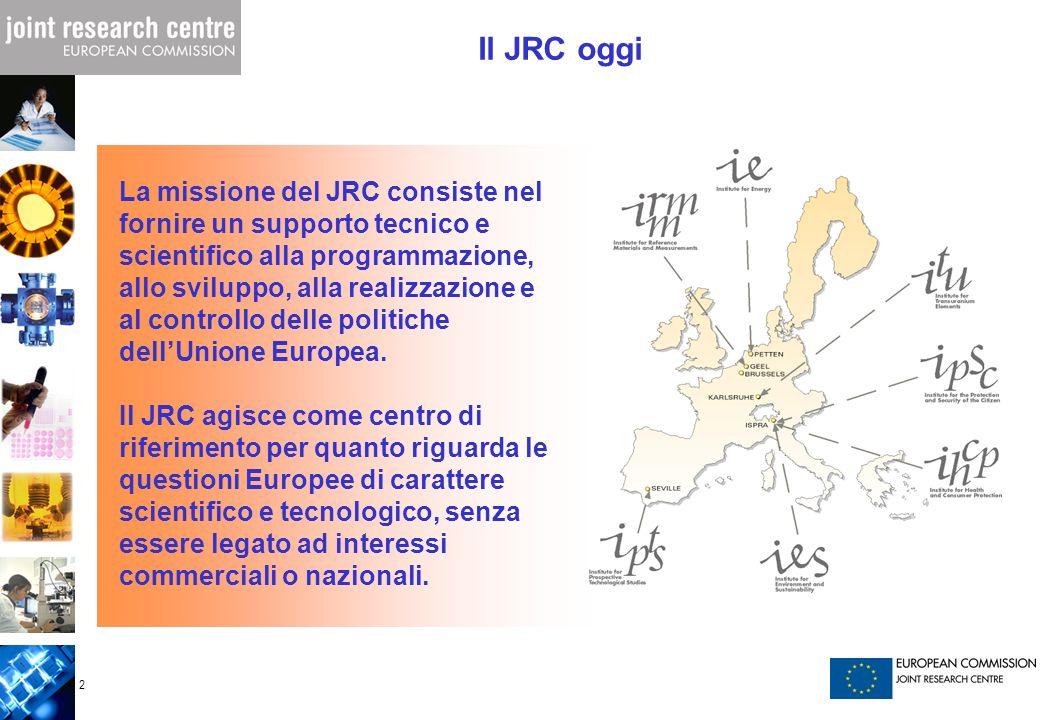 Il JRC oggi