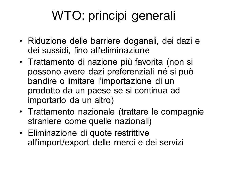 WTO: principi generali