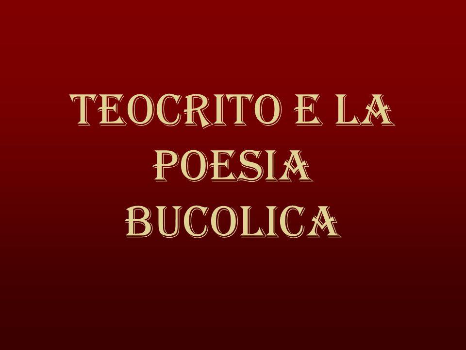 Teocrito e la poesia bucolica