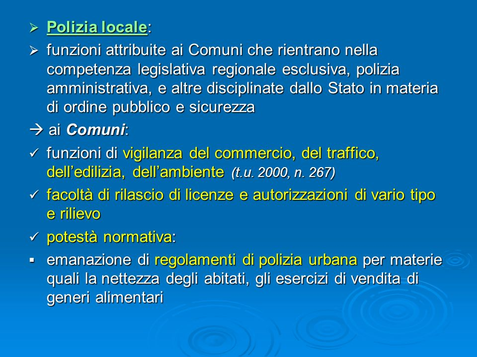 Polizia locale: