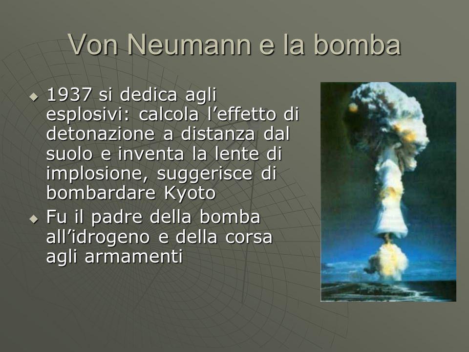 Von Neumann e la bomba