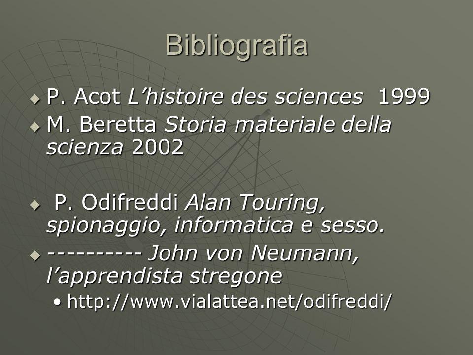Bibliografia P. Acot L'histoire des sciences 1999