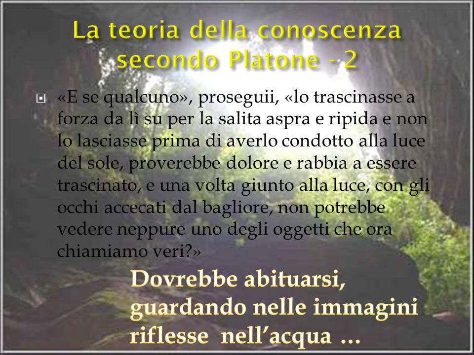 La teoria della conoscenza secondo Platone - 2