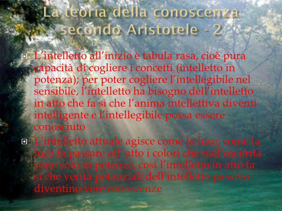 La teoria della conoscenza secondo Aristotele - 2