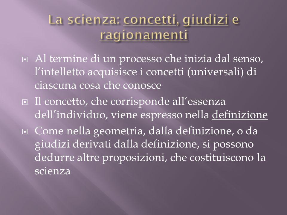 La scienza: concetti, giudizi e ragionamenti