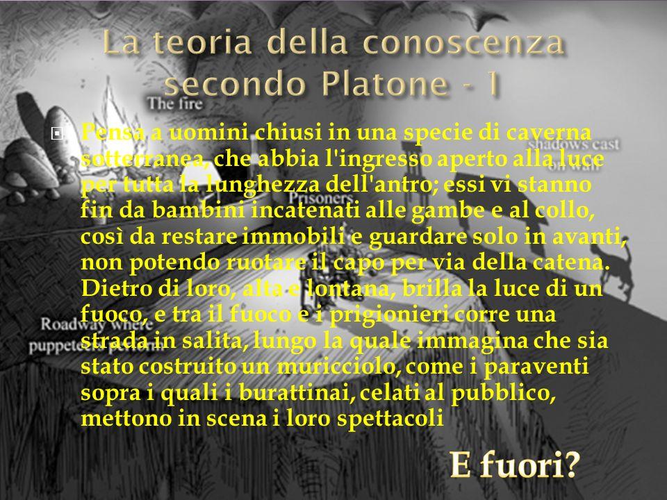 La teoria della conoscenza secondo Platone - 1