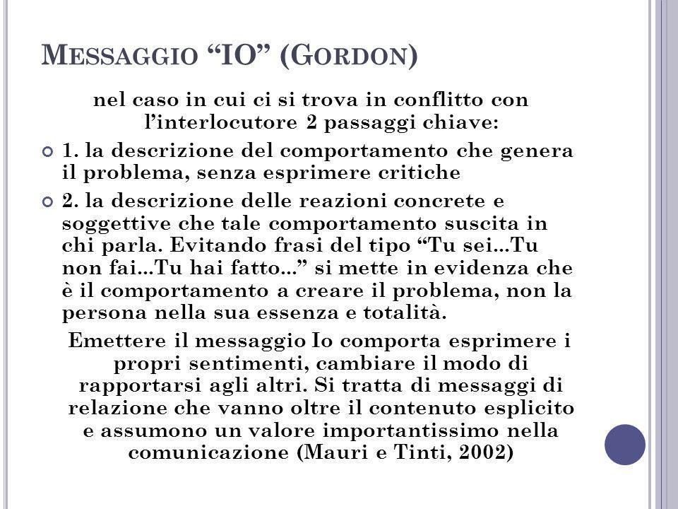 Messaggio IO (Gordon)