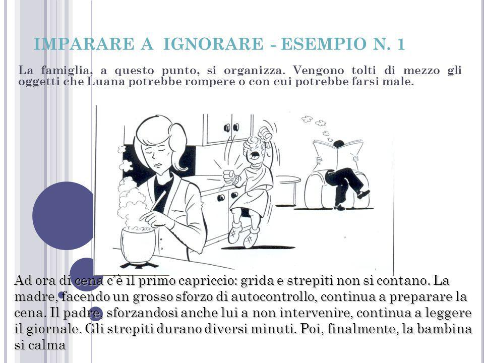 IMPARARE A IGNORARE - ESEMPIO N. 1