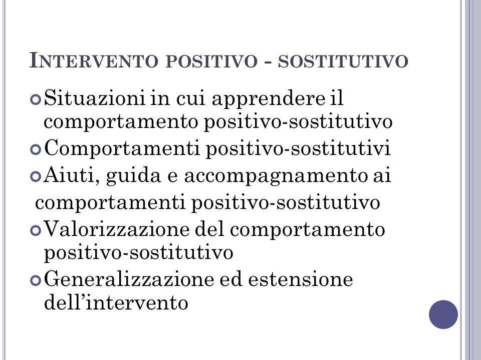 Intervento positivo - sostitutivo