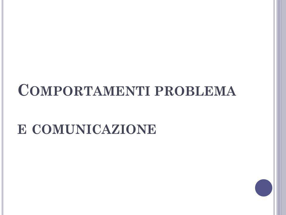 Comportamenti problema e comunicazione