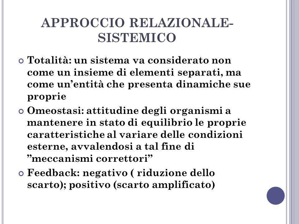 APPROCCIO RELAZIONALE-SISTEMICO