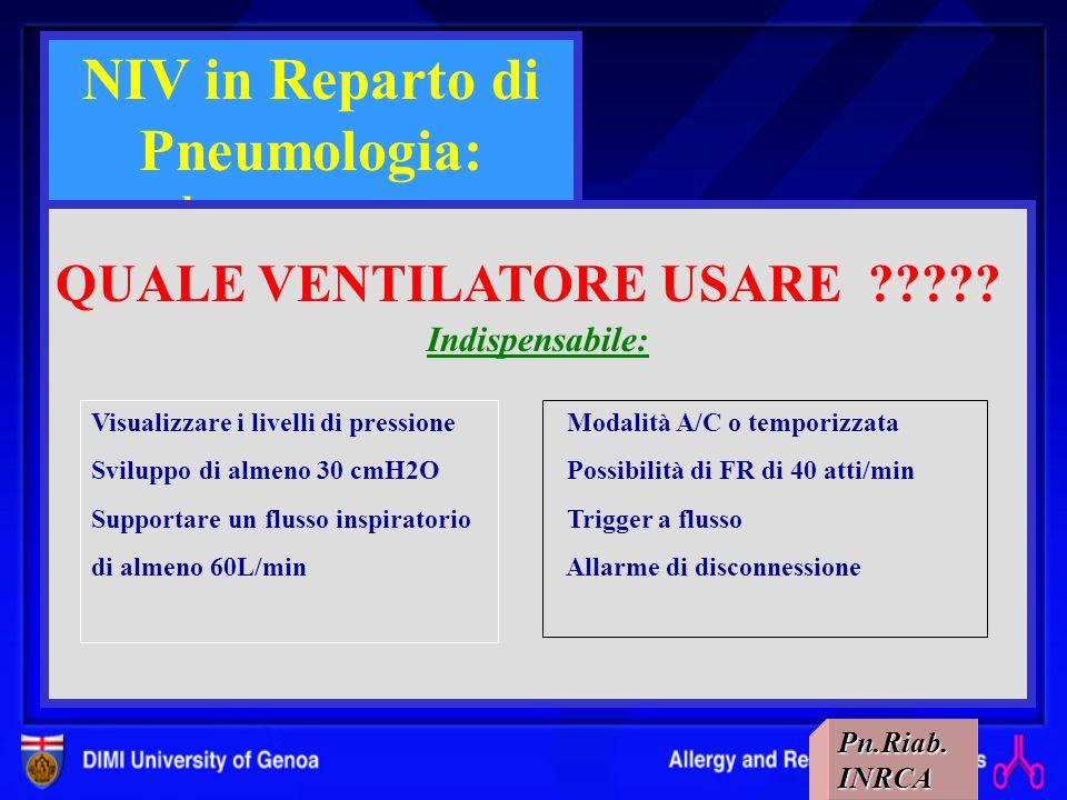 NIV in Reparto di Pneumologia: