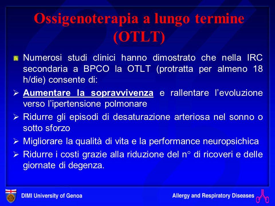Ossigenoterapia a lungo termine (OTLT)