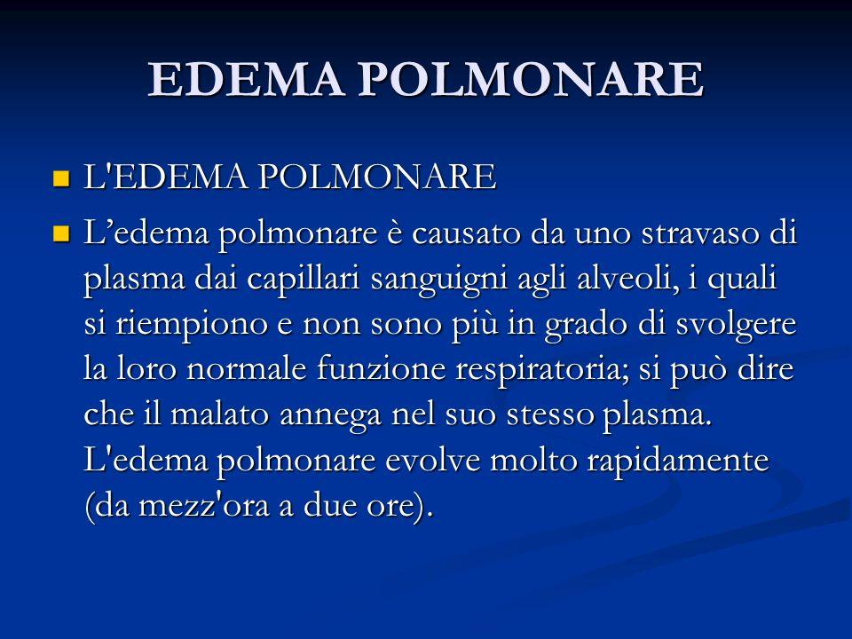 EDEMA POLMONARE L EDEMA POLMONARE