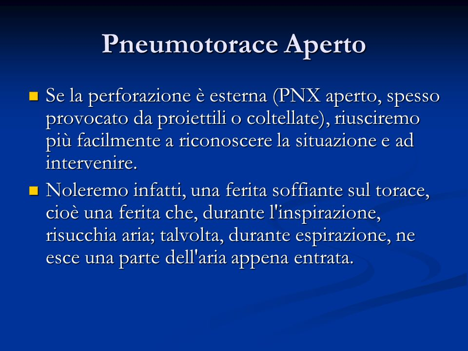 Pneumotorace Aperto