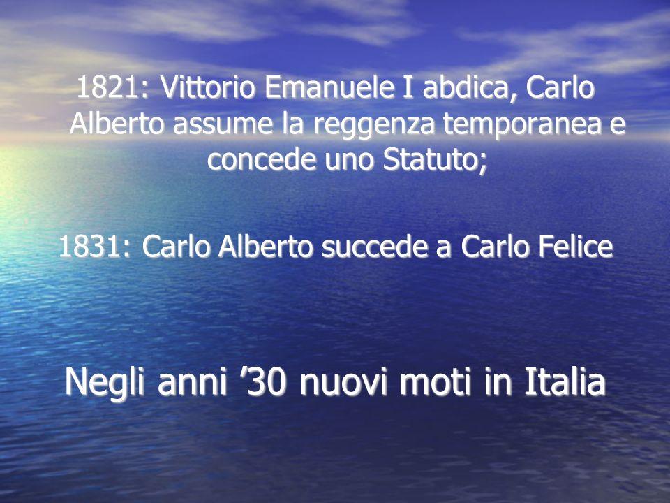 Negli anni '30 nuovi moti in Italia
