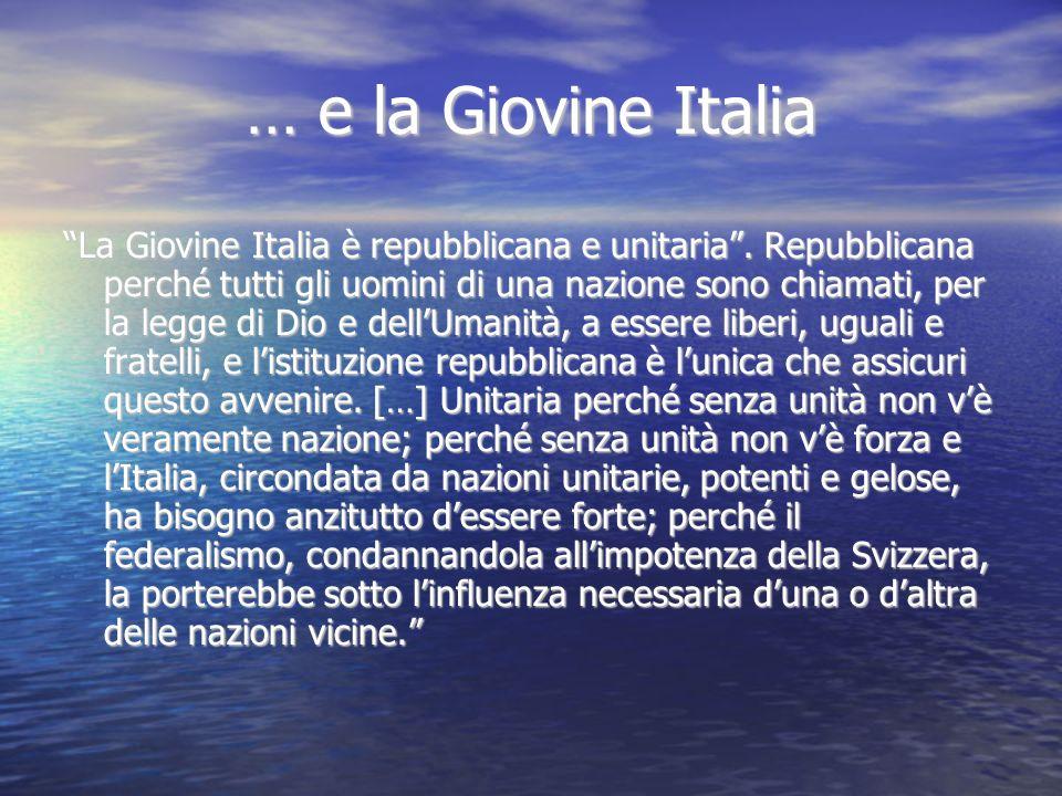 … e la Giovine Italia