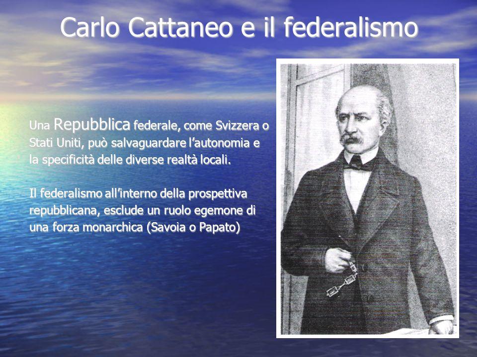 Carlo Cattaneo e il federalismo