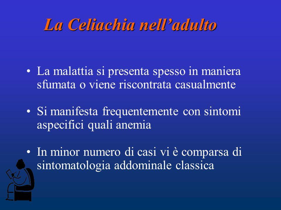 La Celiachia nell'adulto