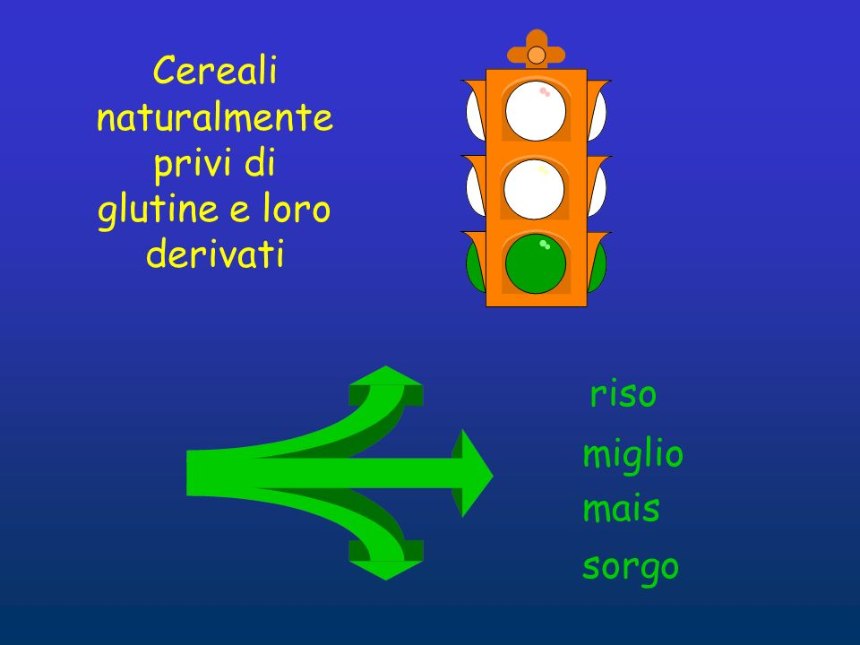 Cereali naturalmente privi di glutine e loro derivati