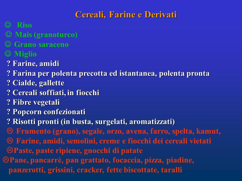Cereali, Farine e Derivati