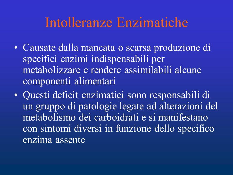 Intolleranze Enzimatiche