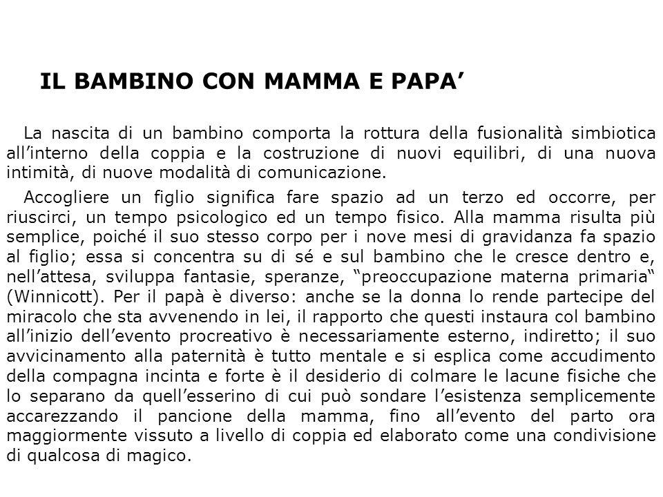 IL BAMBINO CON MAMMA E PAPA'