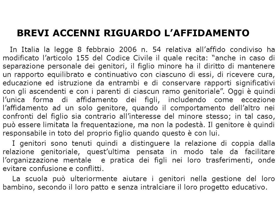 BREVI ACCENNI RIGUARDO L'AFFIDAMENTO