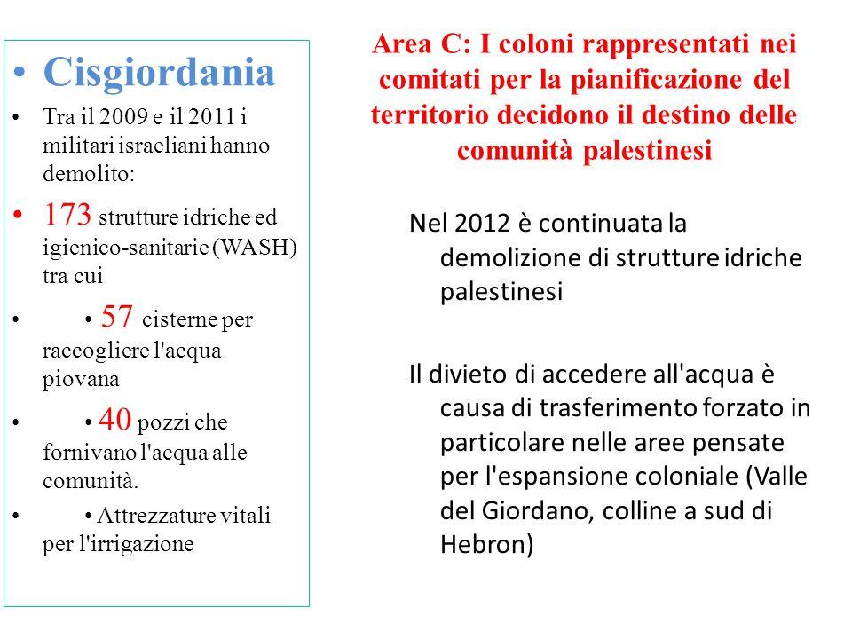 Area C: I coloni rappresentati nei comitati per la pianificazione del territorio decidono il destino delle comunità palestinesi