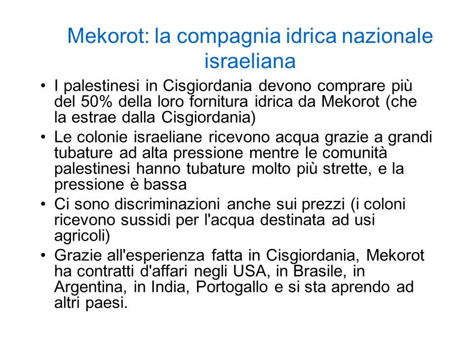 Mekorot: la compagnia idrica nazionale israeliana